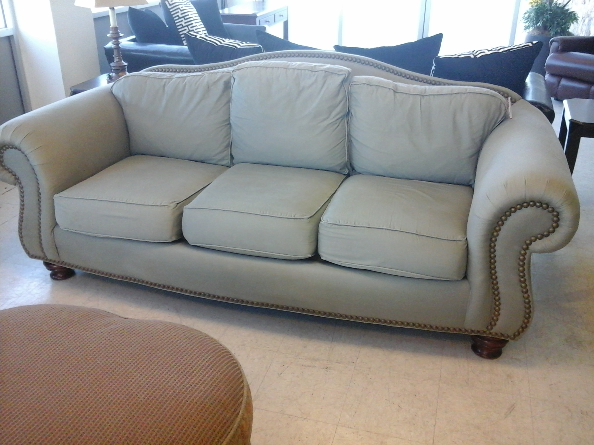 Sofas Center White Upholstered Extra Deep Day Sofa With Glass In Deep Cushion Sofa (Image 15 of 15)