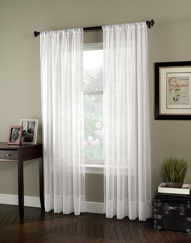 Soho Voile Lightweight Sheer Curtain Panel Curtainworks Regarding Voile Sheers (View 6 of 15)