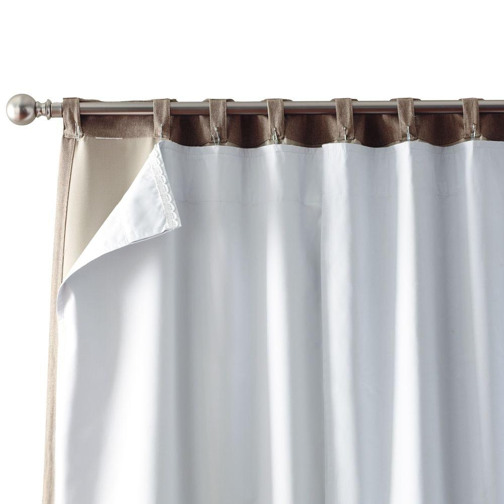 Solaris White Blackout Liner 1628010 The Home Depot Inside Thermal Lined Blackout Curtains (View 15 of 15)