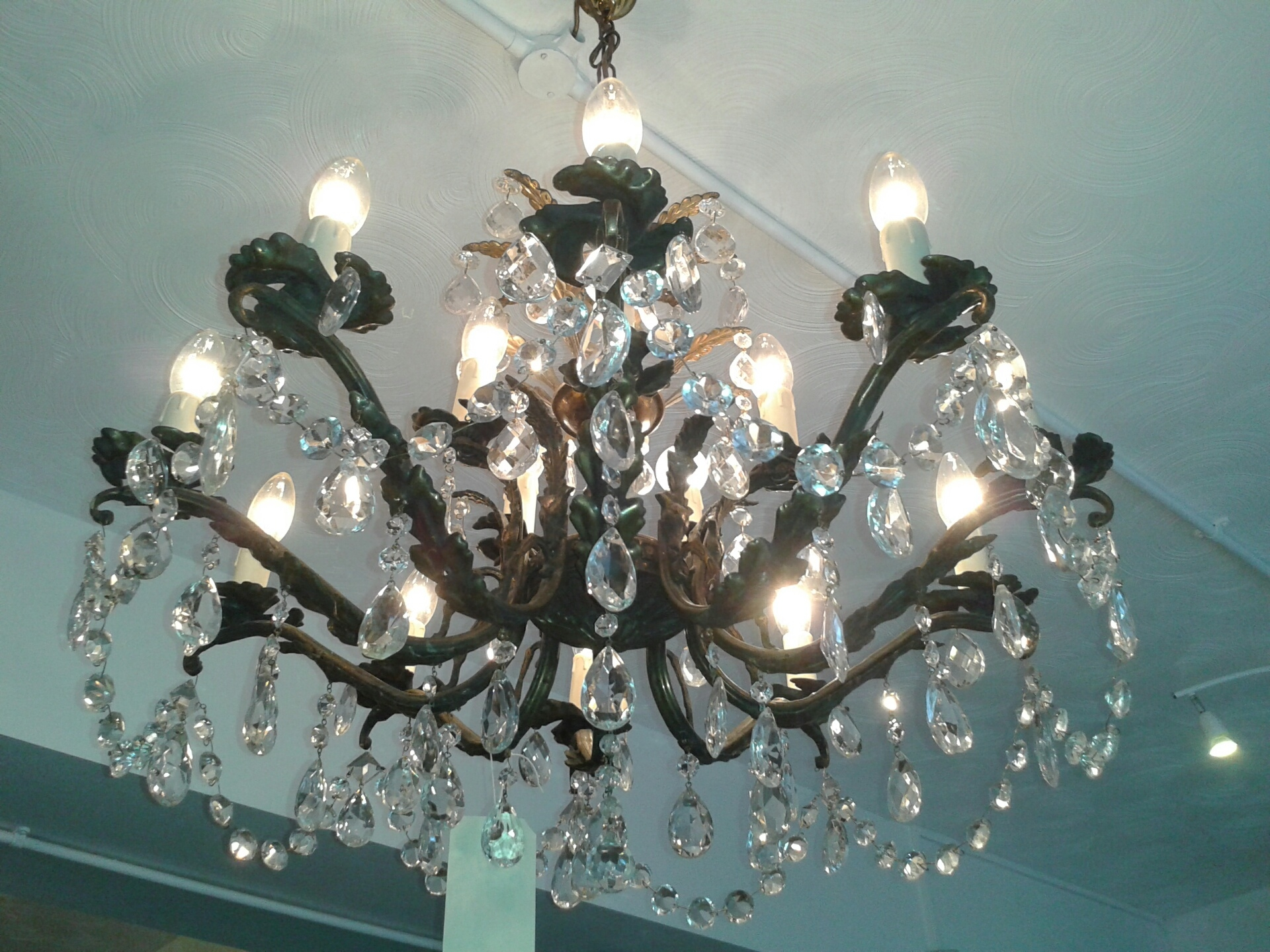 Sold Mid 20th Century 15 Light Chandelier Th121 In Edwardian Chandeliers (Image 15 of 15)