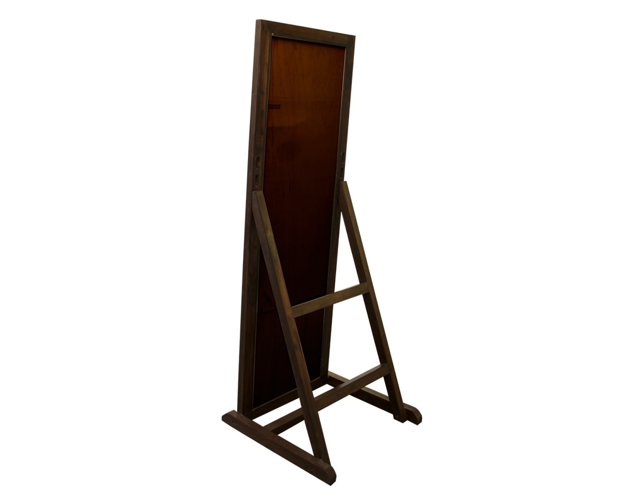 Solid Reclaimed Teak Full Length Mirror Dark Cheval Mirror In Mirror Cheval (Image 13 of 15)