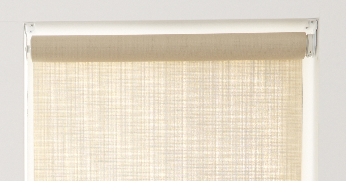Somfy Powered Electric Roller Blind Bali Linen Inside Linen Roller Blinds (Image 12 of 15)