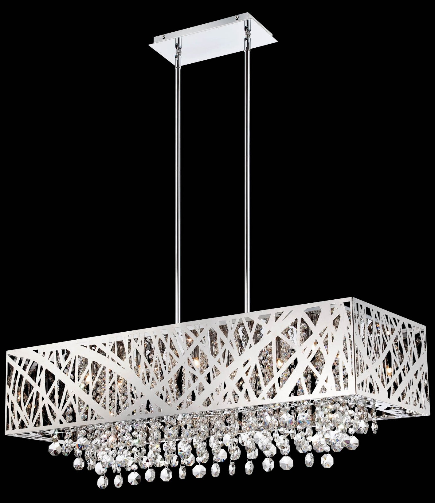 South Shore Decorating Lite Source El 10104 Benedetta Modern Within Modern Silver Chandelier (Photo 9 of 15)