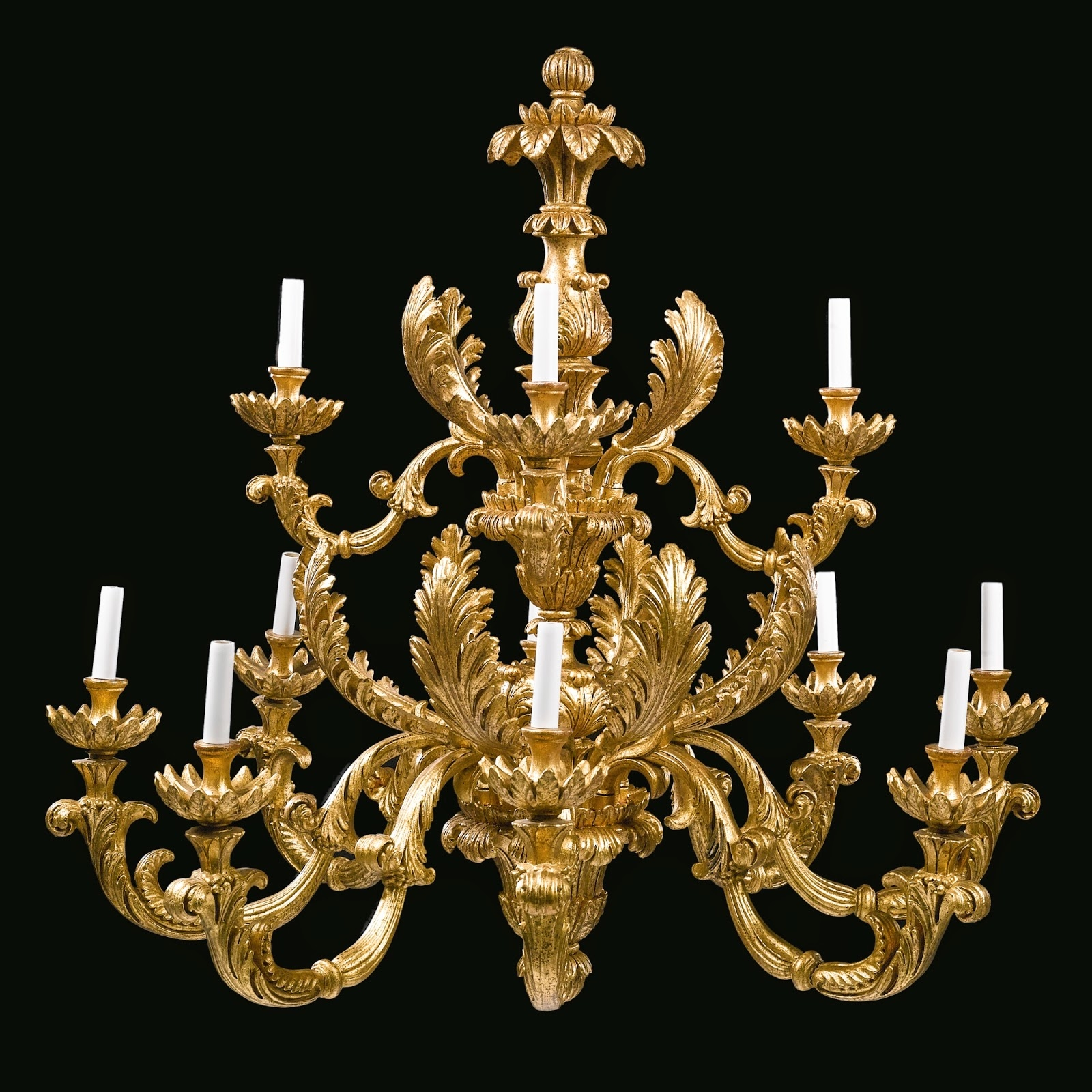 Spencer Alley Giltwood Pairs In Baroque Chandelier (Image 14 of 15)