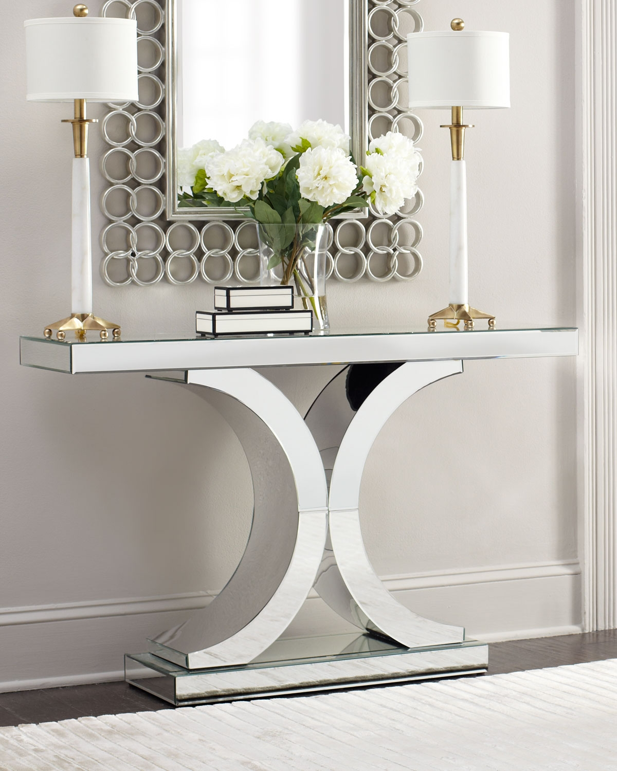 Splendora Mirrored Console Entrance Pinterest Adana Design In Mirrored Occasional Tables (Image 15 of 15)