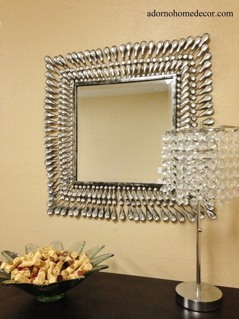 Square Home Dcor Mirrors Ebay Inside Wall Mirror With Crystals (Image 13 of 15)