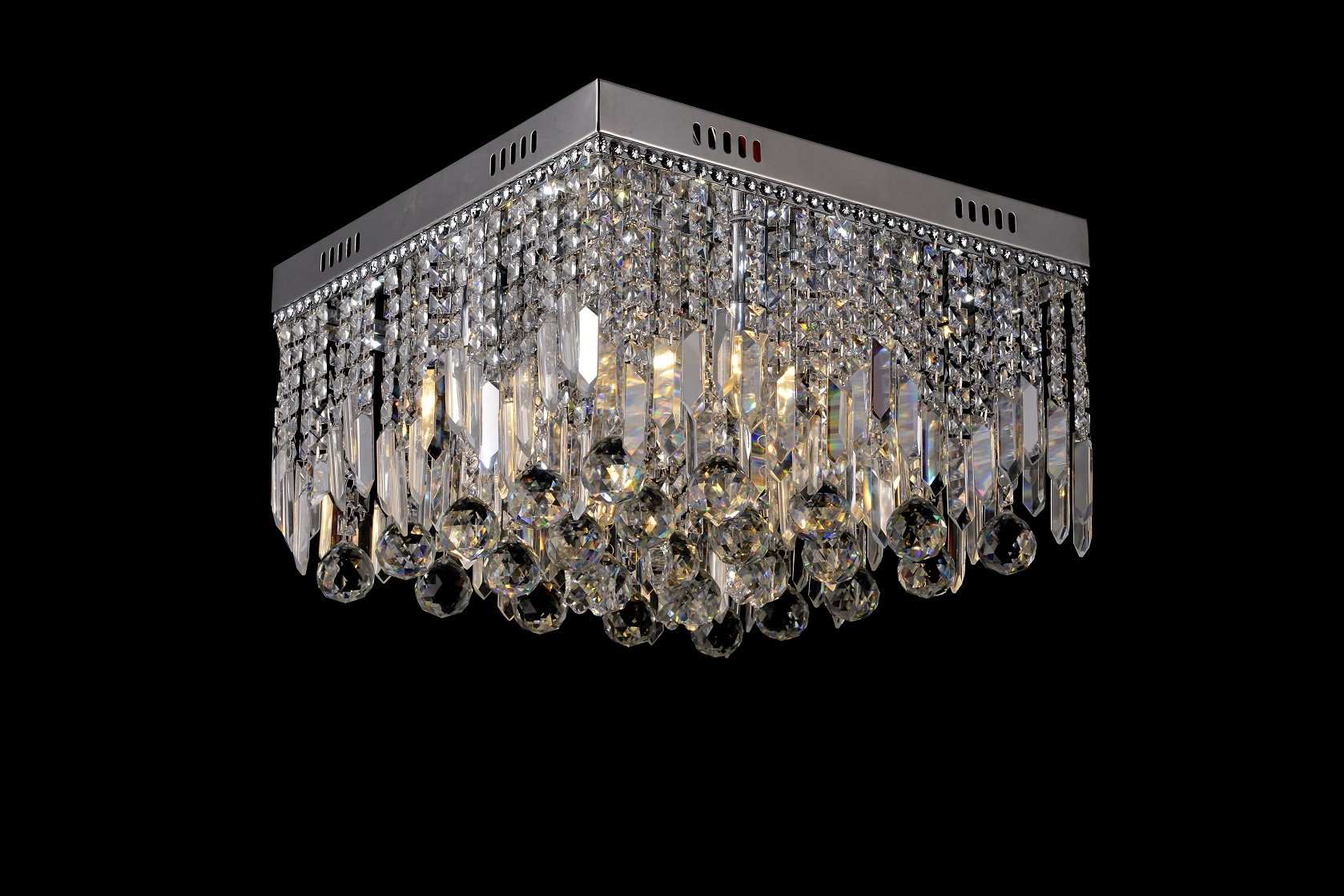 Square Led K9 Crystal Chrome Chandelier Day White Small Or Large Regarding Crystal Chrome Chandelier (View 8 of 15)