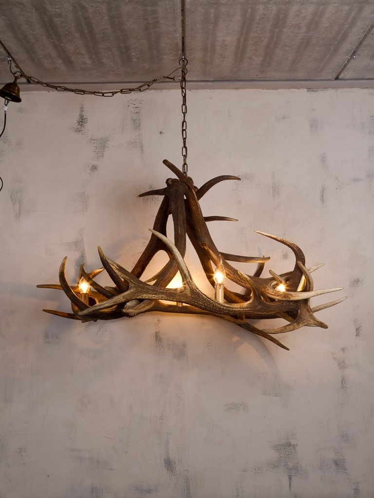 Stag Wall Light 12 Ways To Add A Rustic Feel To Your Home Decor Intended For Stag Horn Chandelier (Image 10 of 15)