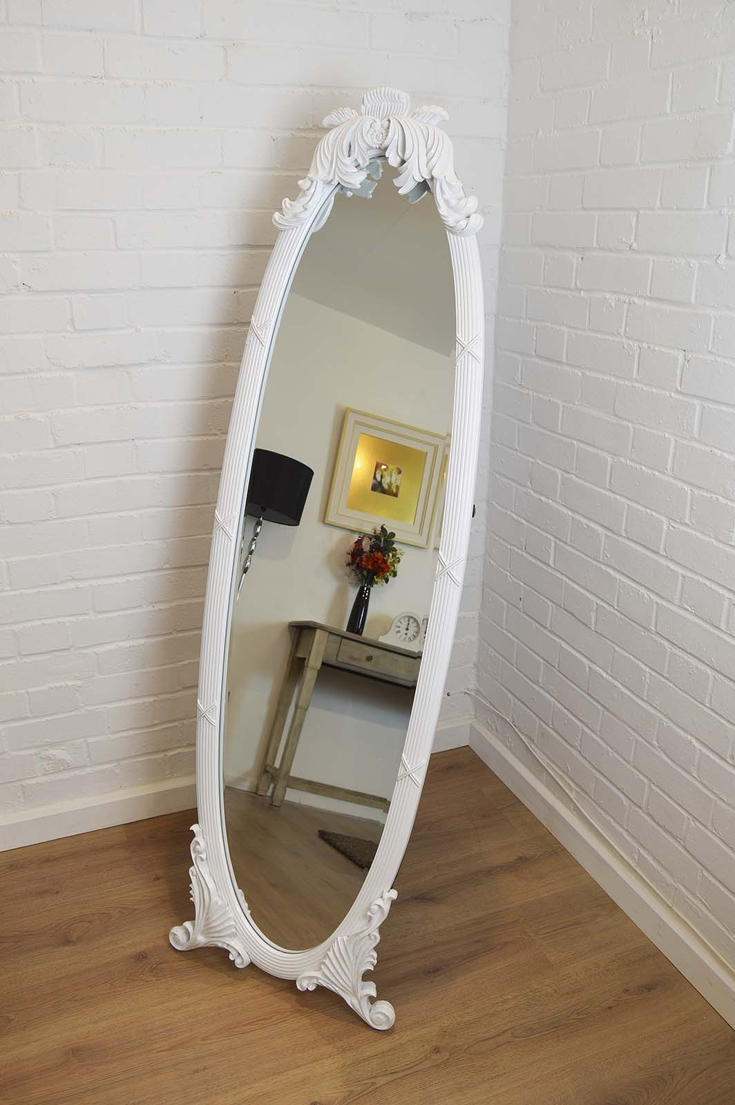 15 Photos Shabby Chic Free Standing Mirror Mirror Ideas