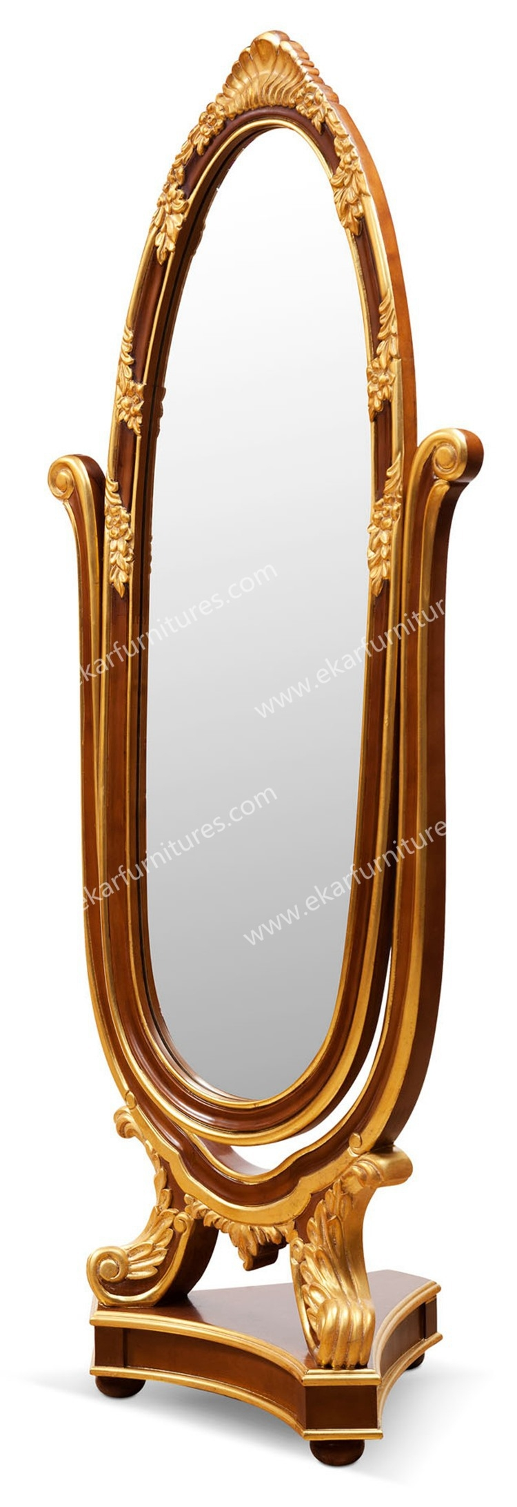Standing Wooden Frame Vintage Standing Mirror Fg 105 Within Vintage Standing Mirror (Image 12 of 15)