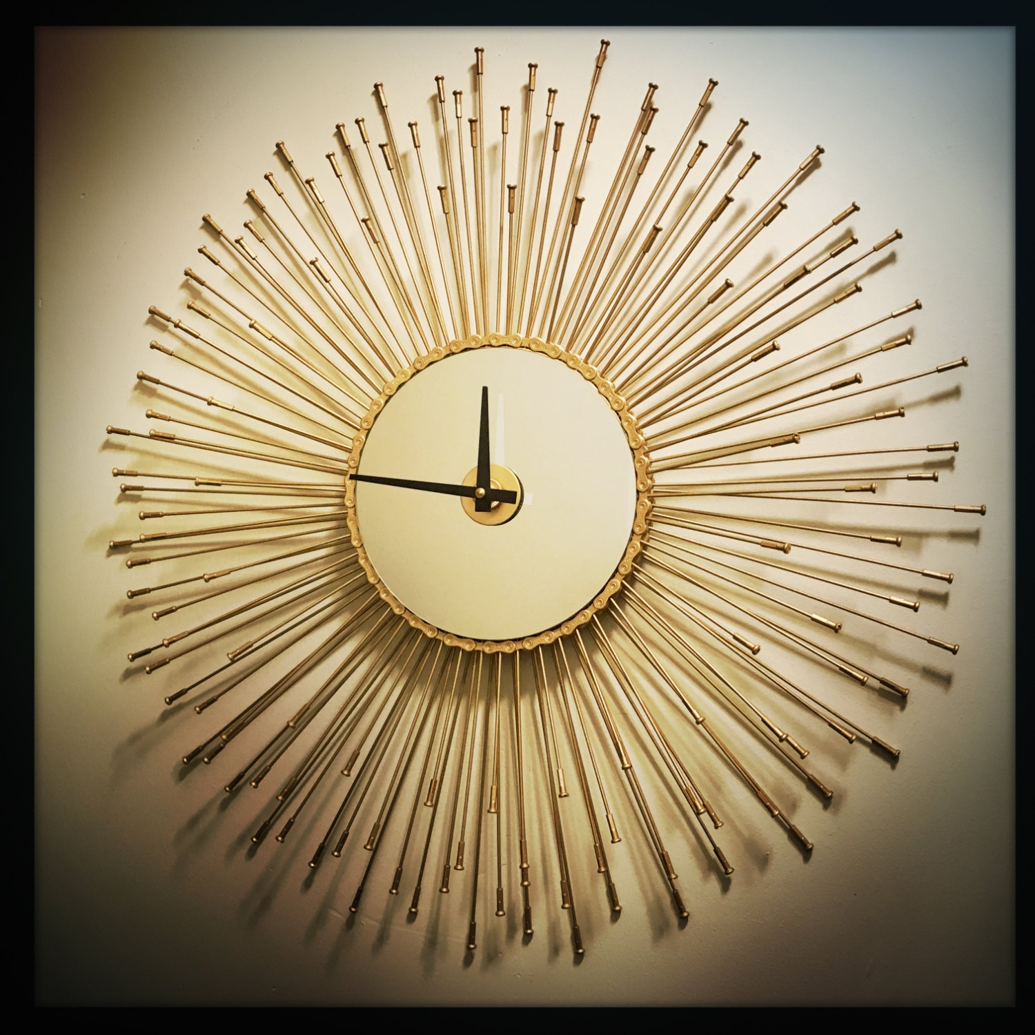 Starburst Clock Etsy Intended For Sun Mirrors For Sale (Image 10 of 15)