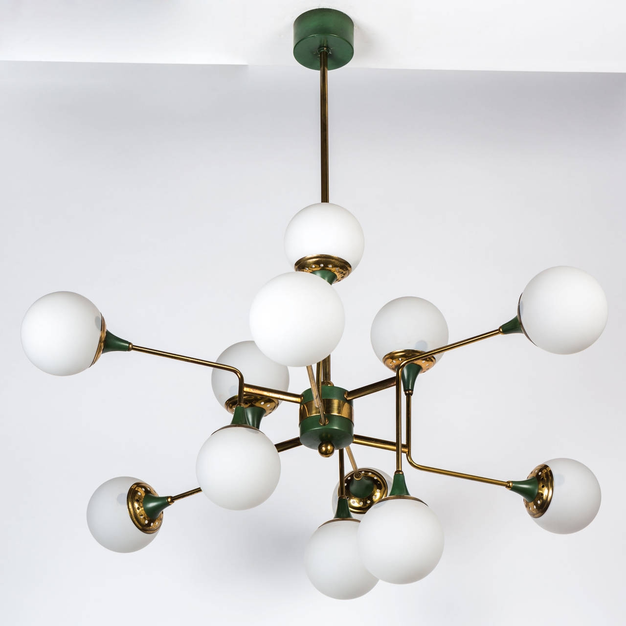 Stilnovo 12 Globe Chandelier Modern Chandelier Antiques And Intended For Globe Chandeliers (Image 14 of 15)