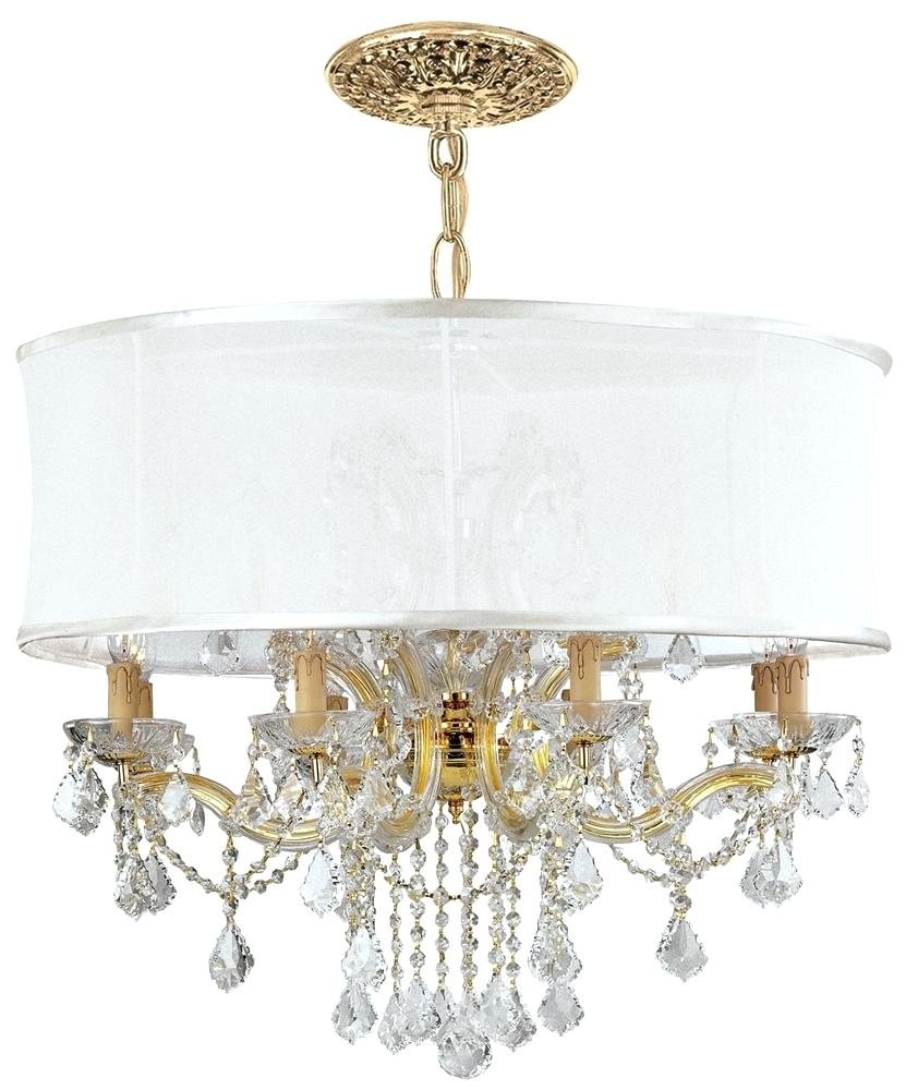 Strass Crystal Chandelier Engageri Intended For White Contemporary Chandelier (Image 14 of 15)