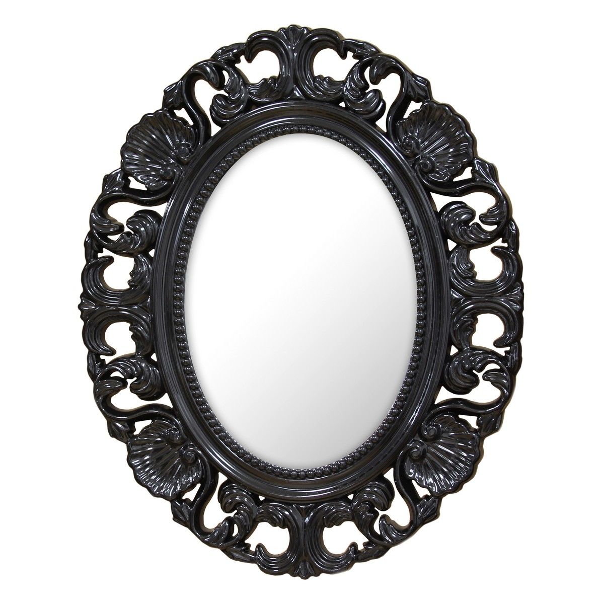 Stratton Home Decor Baroque Mirror Black Shd0085 At Homelement In Black Baroque Mirror (Image 13 of 15)