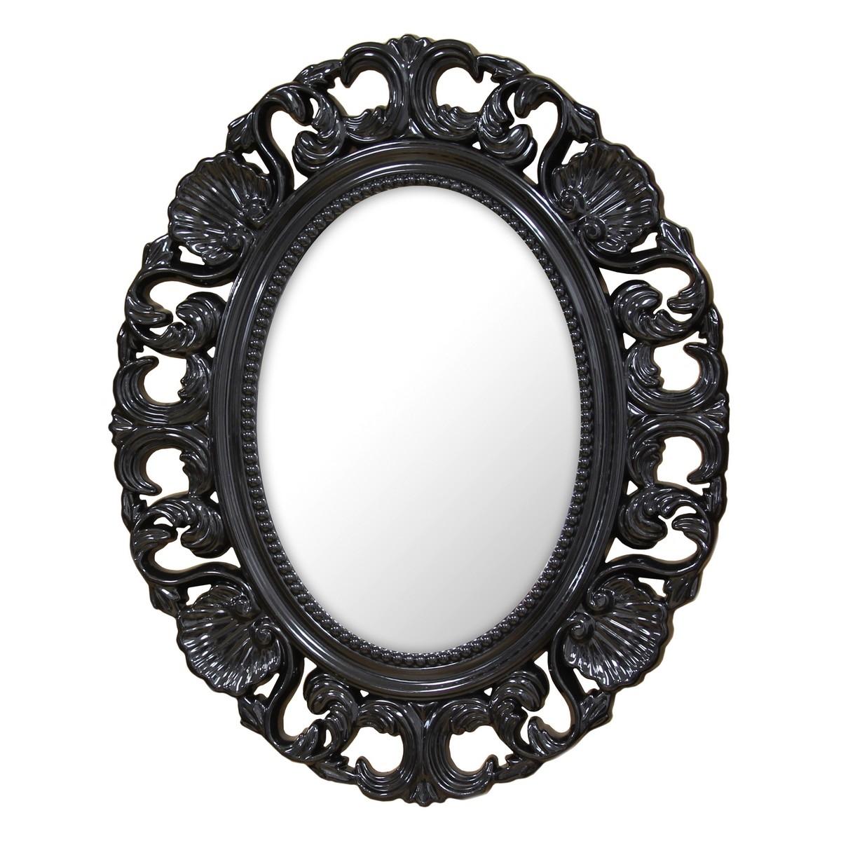 Stratton Home Decor Baroque Mirror Black Shd0085 At Homelement Throughout Baroque Mirror Black (Image 12 of 15)