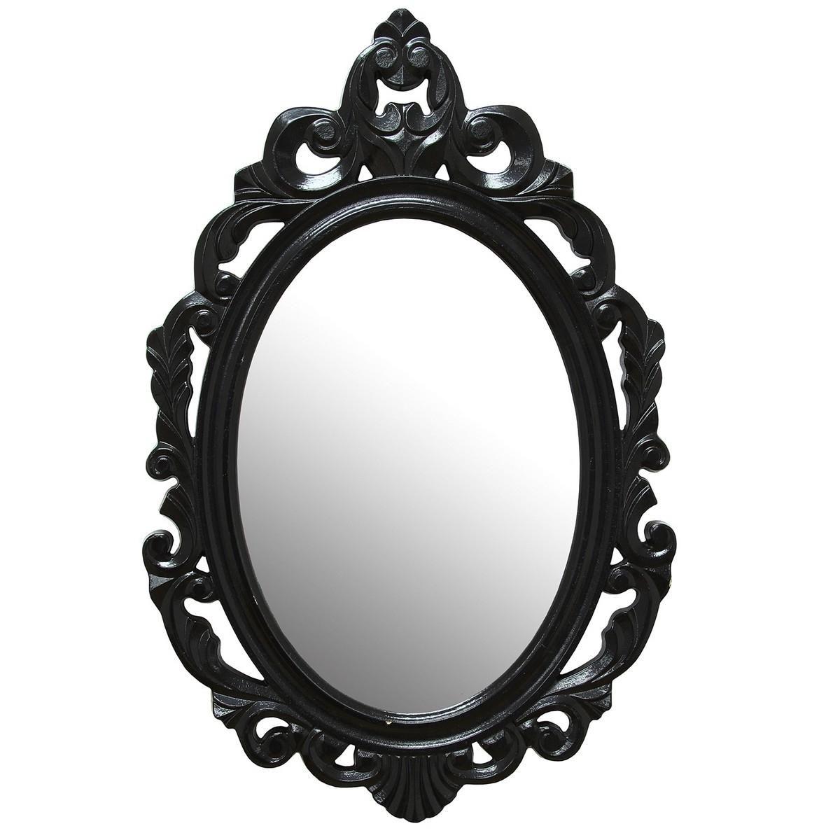 Stratton Home Decor Black Baroque Mirror Black Shd0059 At Regarding Baroque Mirror Black (Image 13 of 15)