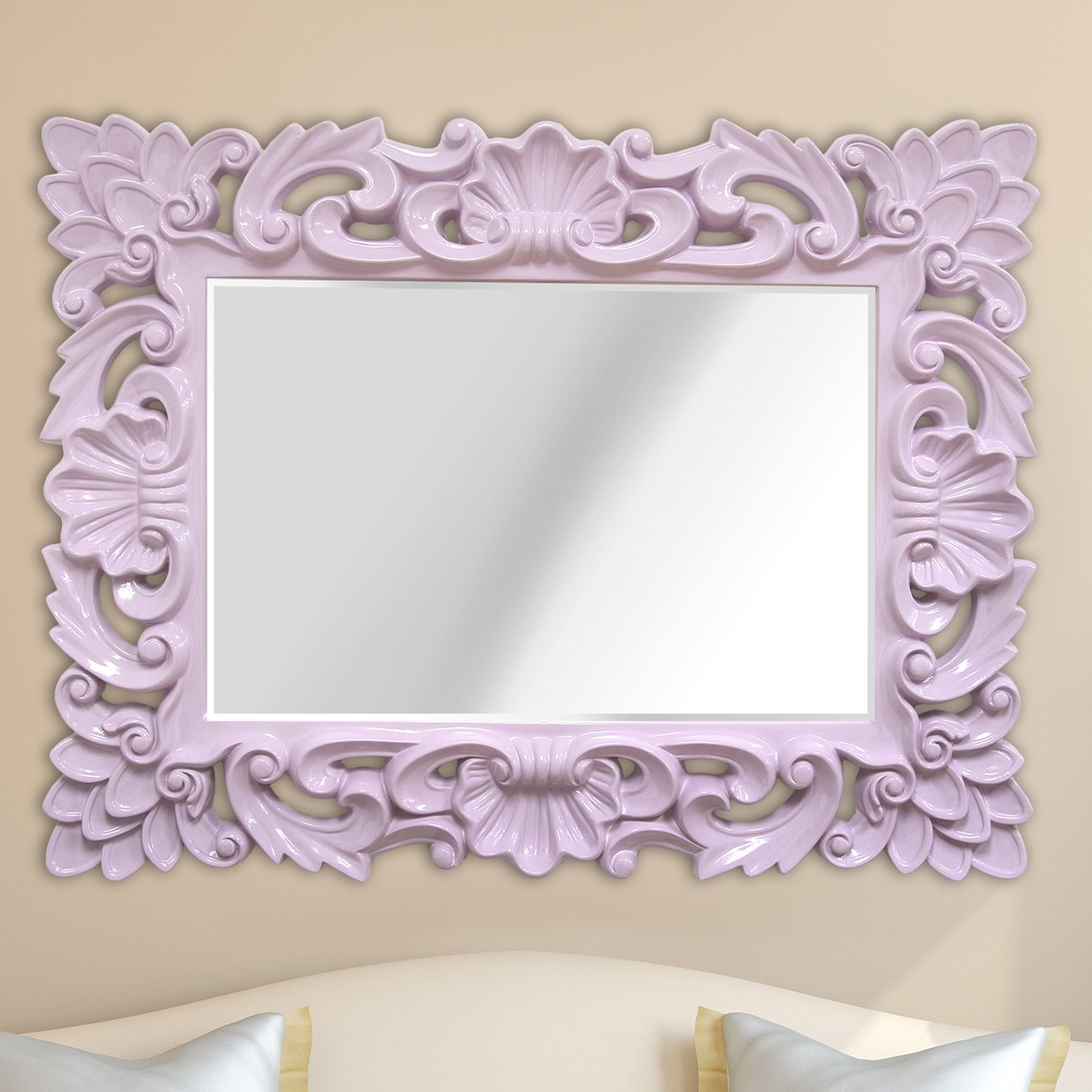 Stratton Home Decor Elegant Ornate Wall Mirror Reviews Wayfair Throughout Ornate Wall Mirror (Image 11 of 15)