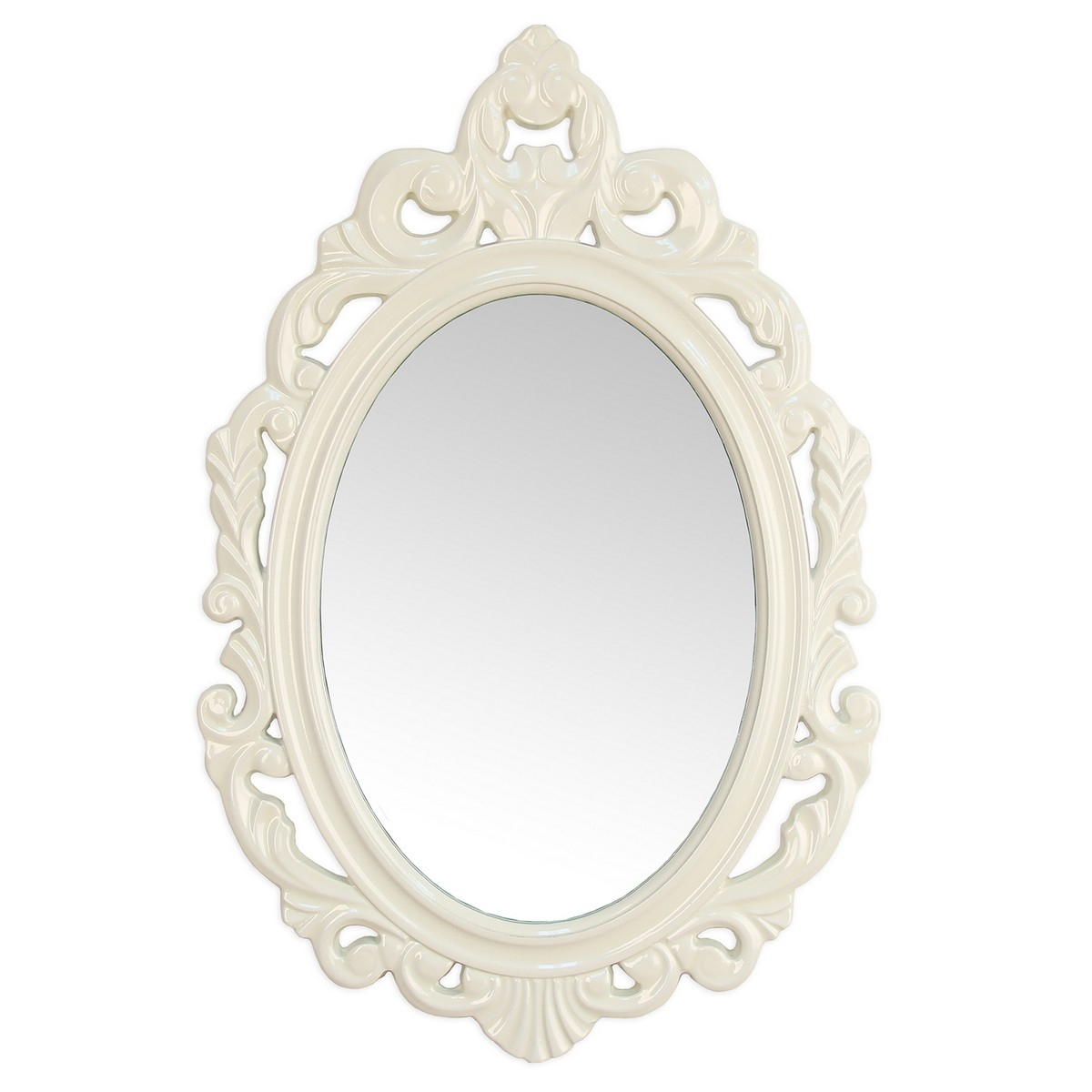 Stratton Home Decor White Baroque Mirror White Shd0058 At Inside Baroque Mirror White (Image 8 of 15)