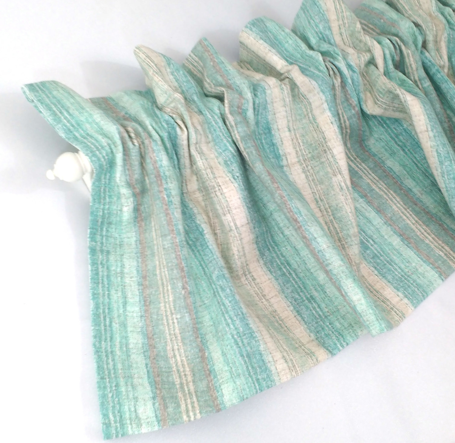 Stripe Curtains Etsy Within Green And Cream Striped Curtains (Image 14 of 15)