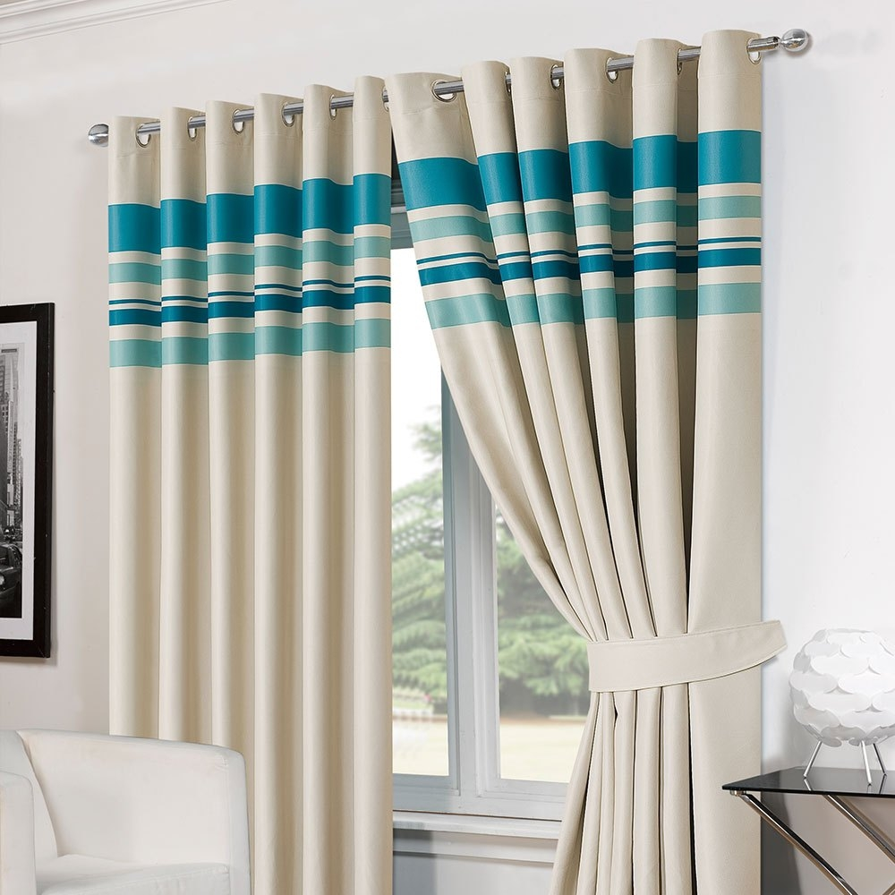 Striped Blackout Curtains Regarding Striped Thermal Curtains (Image 13 of 15)