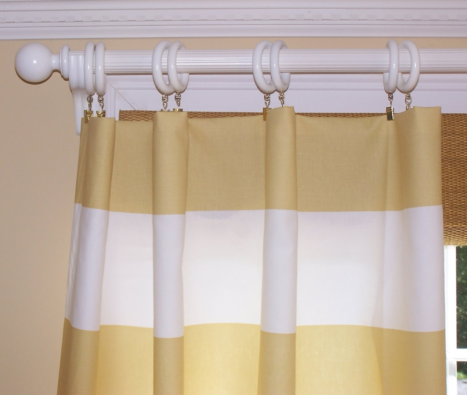 Striped Curtains Etsy Intended For Thick Striped Curtains (View 2 of 15)