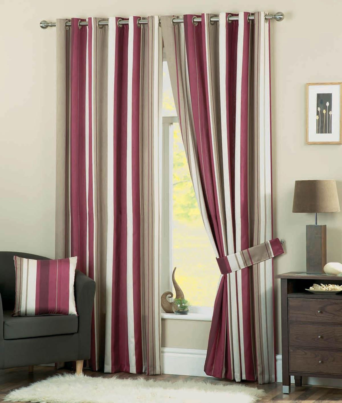 Striped Eyelet Curtains Browse Window Curtains Terrys Fabrics Regarding Multi Coloured Striped Curtains (Image 12 of 15)