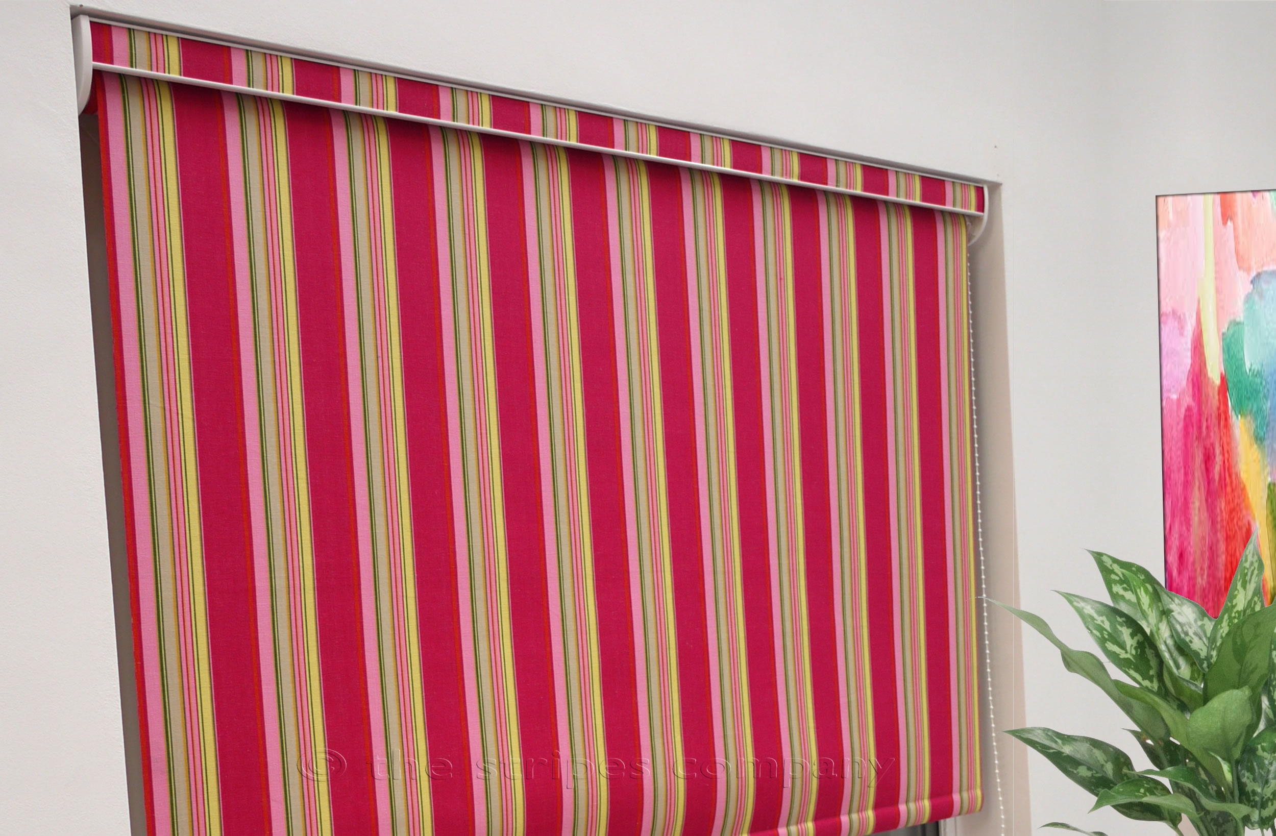 Striped Roller Blinds The Stripes Company Uk Within Blue And White Striped Roman Blinds (Image 15 of 15)