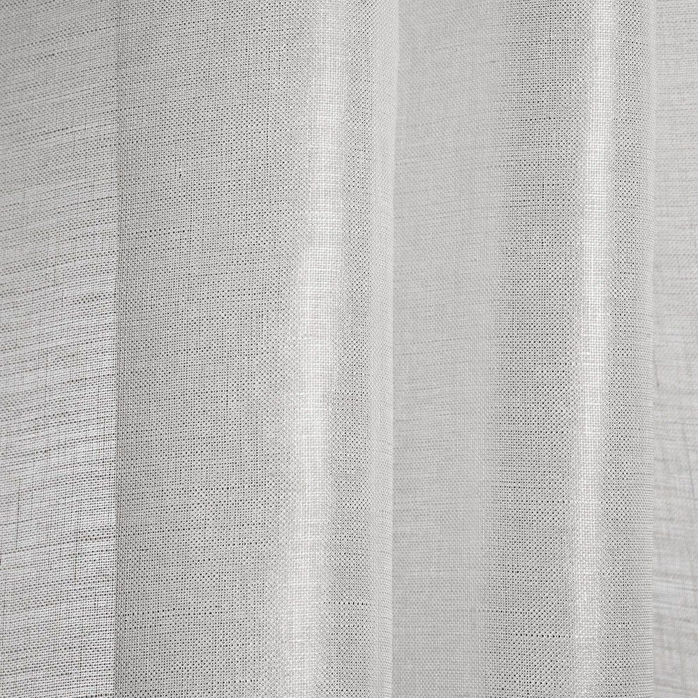 Striped Sheer Curtain Fabric Linen Brina Dedar Milano Regarding Curtain Linen Fabric (Image 15 of 15)