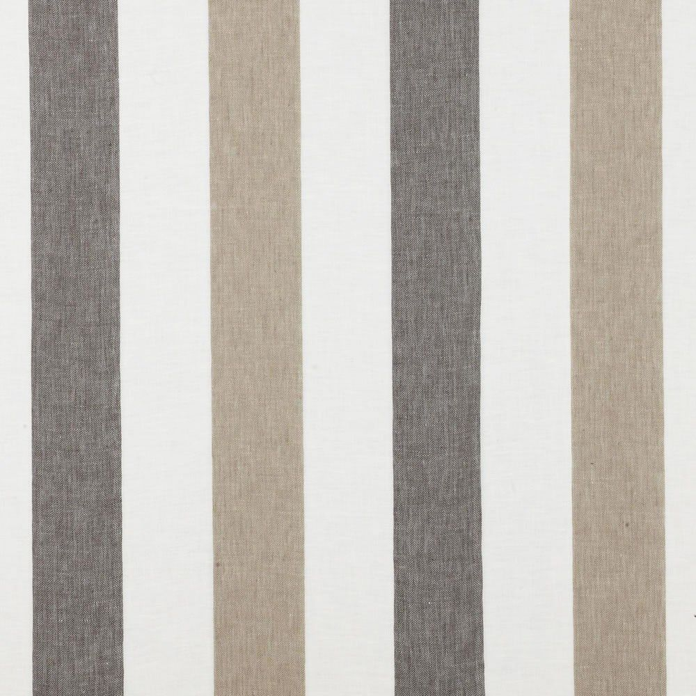 Striped Sheer Curtain Fabric Linen Zephyr Dedar Milano For Sheer Linen Fabric Curtain (Image 15 of 15)