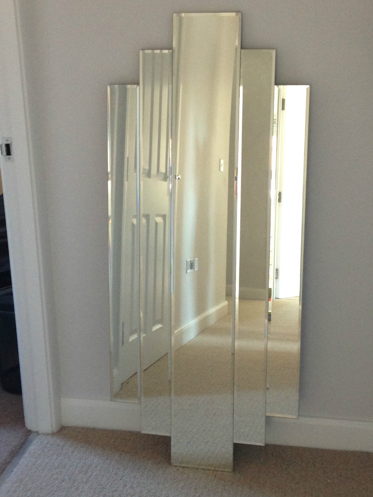 Stunning Art Deco Full Length Mirror Beveled Tiered Retro With Art Deco Full Length Mirror (View 9 of 15)