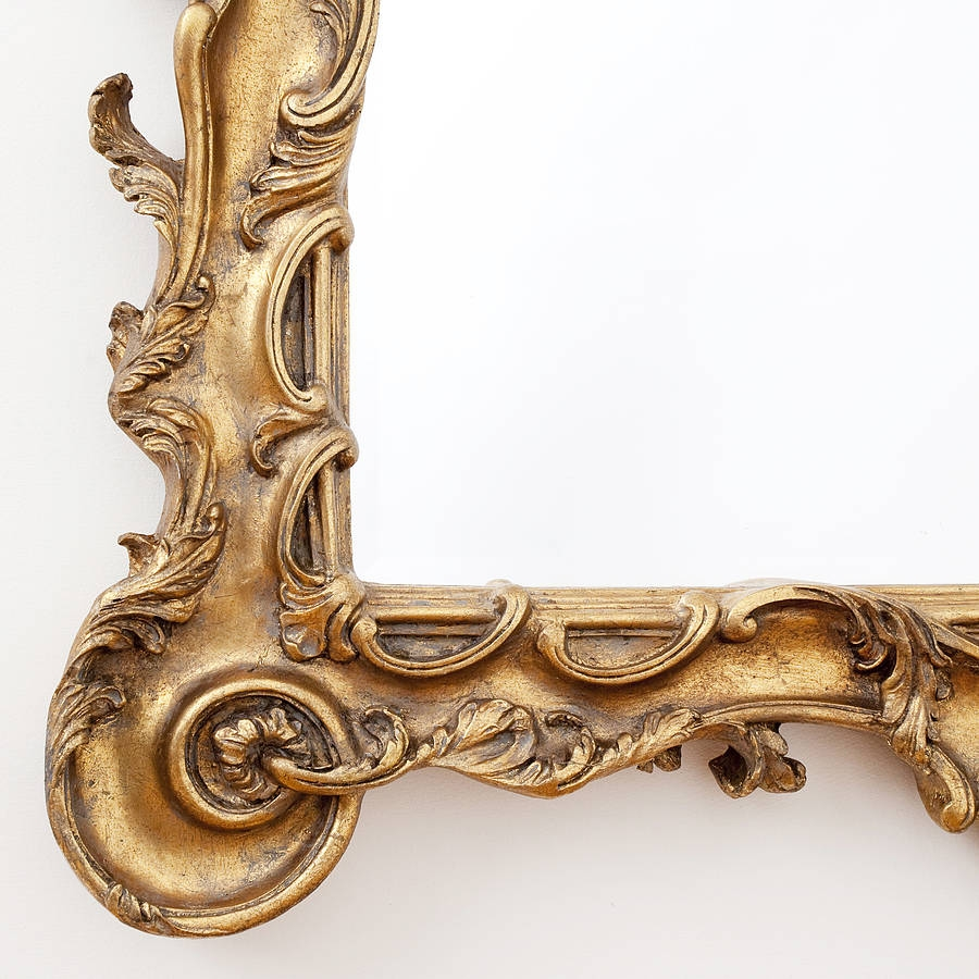Stunning Large Ornate Gold Mirror Decorative Mirrors Online Intended For Large Gold Ornate Mirror (Image 14 of 15)