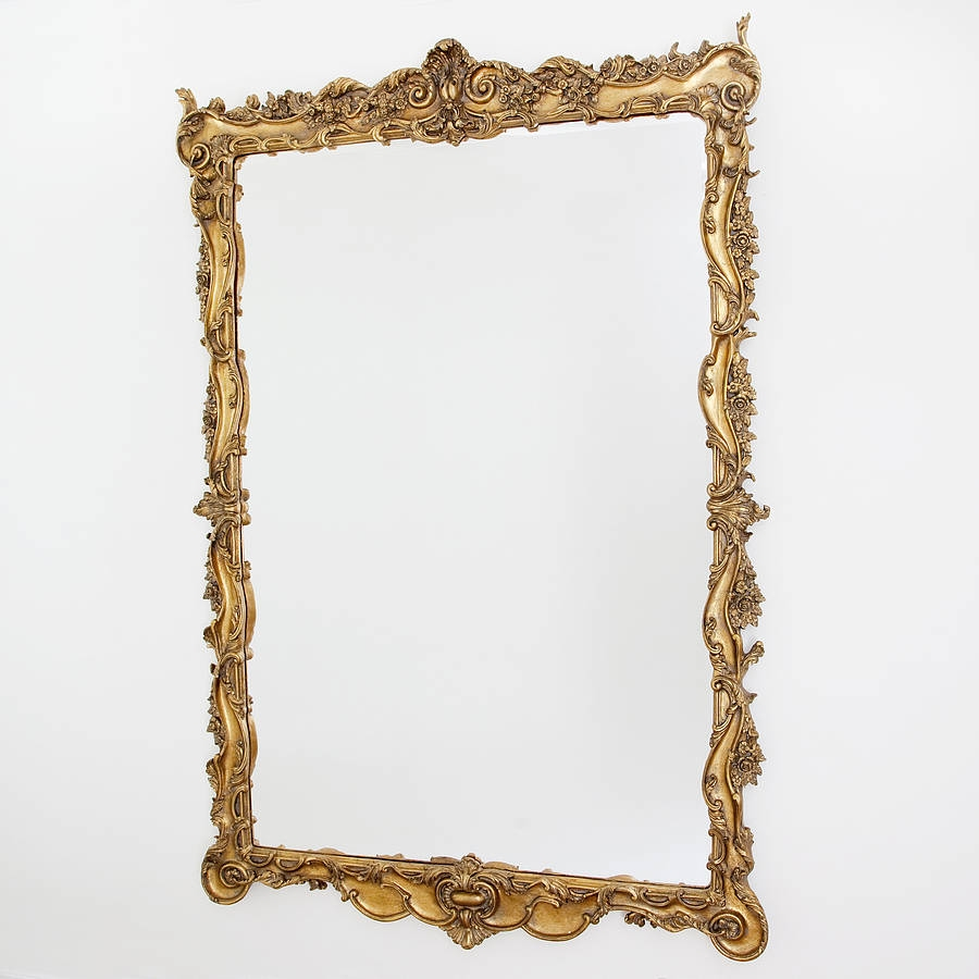 Stunning Large Ornate Gold Mirror Decorative Mirrors Online Pertaining To Gold Ornate Mirror (Image 12 of 15)