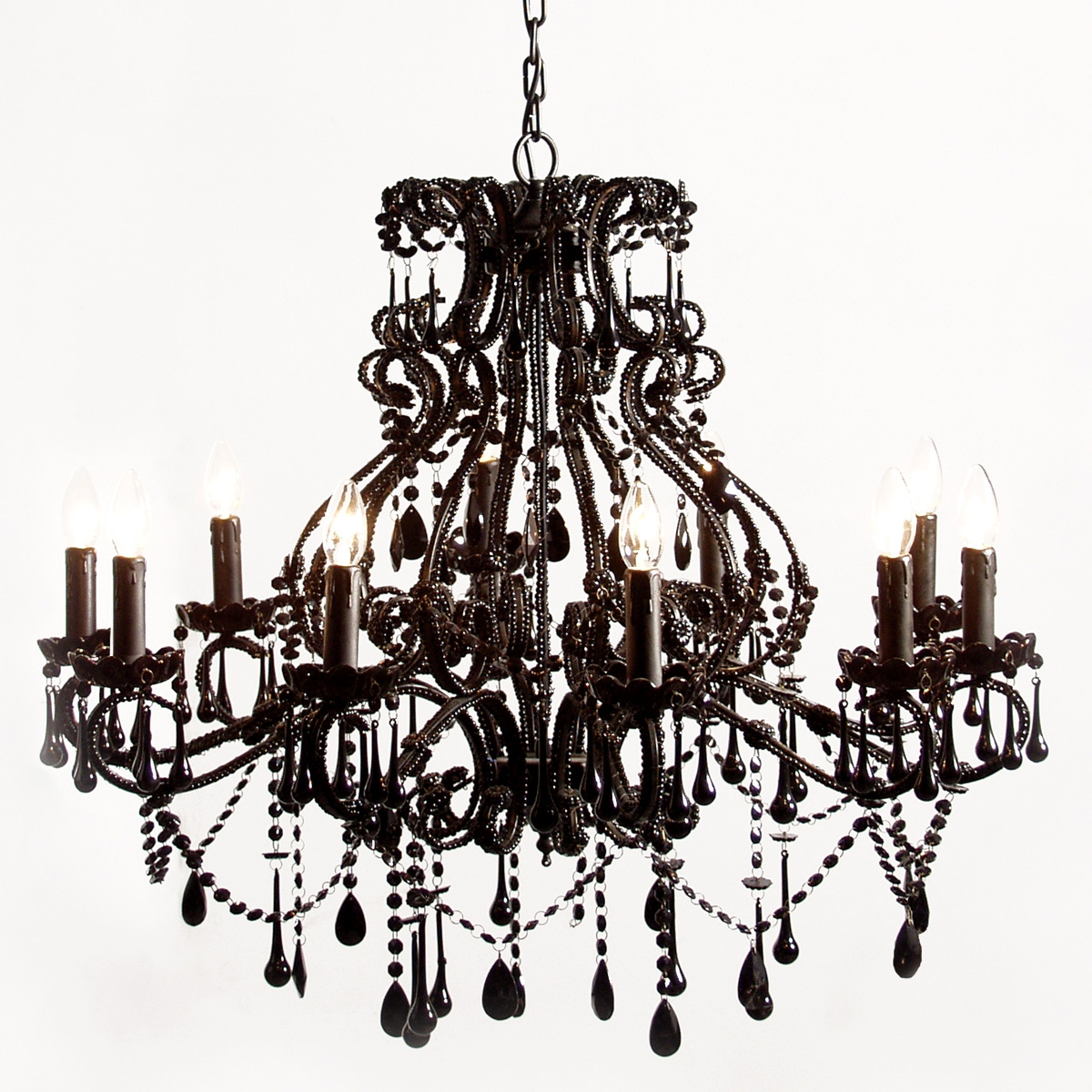Stunning New Black Chandeliers Bedroom Lowes Courtagerivegauche Intended For Black Chandelier Bedroom (Image 13 of 15)