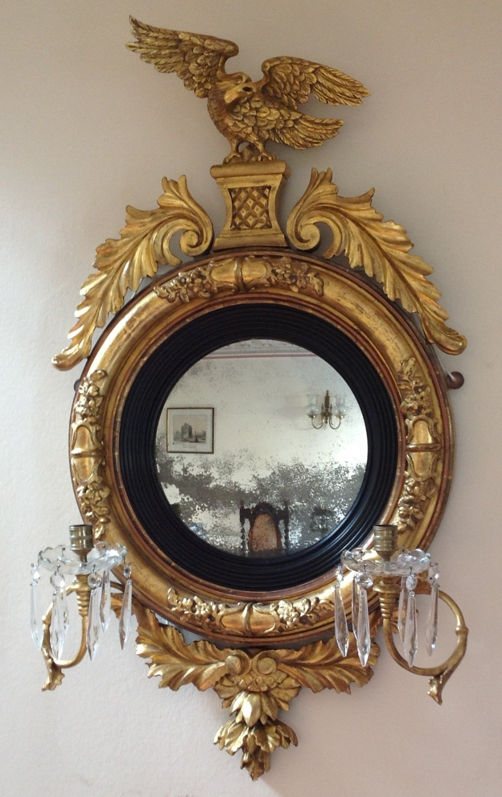 Stunning Regency Convex Mirror 250628 Sellingantiquescouk Pertaining To Antique Convex Mirrors For Sale (Image 15 of 15)