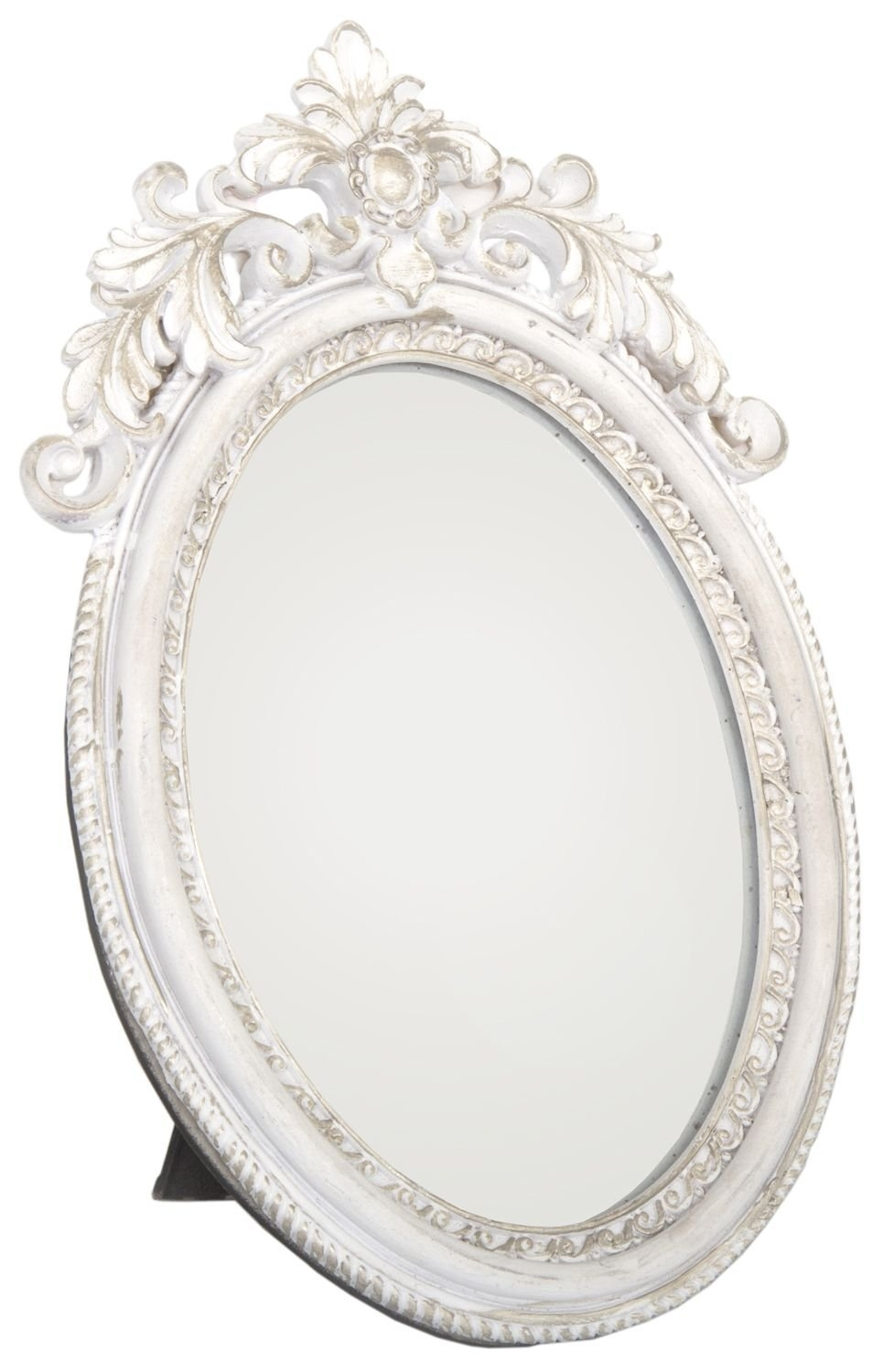 Stunning Shab Chic Cream And Gold Painted Mirror Ideal For Inside Oval Shabby Chic Mirror (Image 14 of 15)