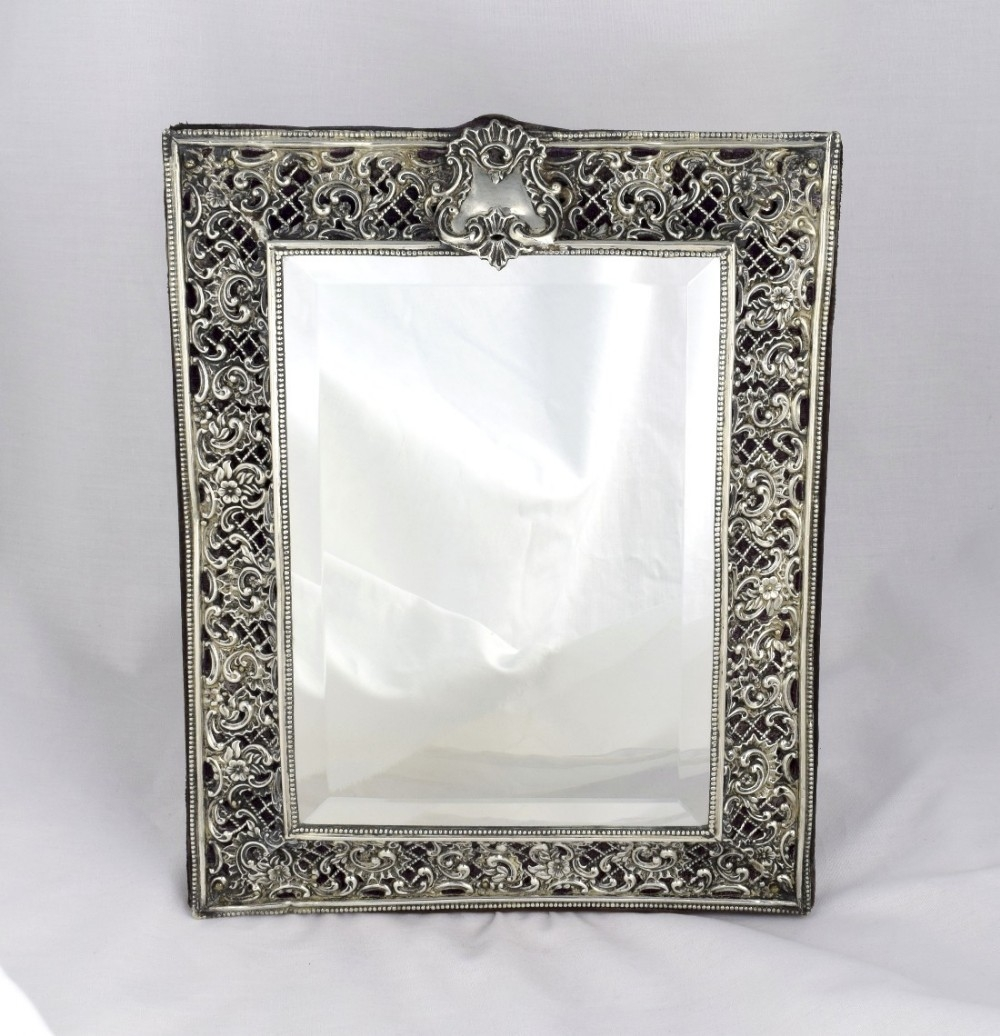 Stunning Victorian Silver Dressing Table Mirror Henry Matthews In Silver Dressing Table Mirror (Image 14 of 15)
