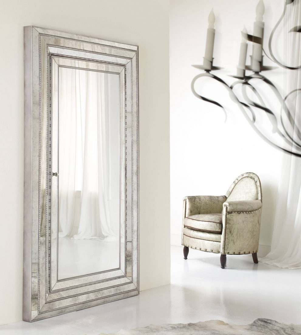 Stupendous Full Length Mirror Jewelry Cabinet White 76 Full Length Within Silver Full Length Mirror (Image 13 of 15)