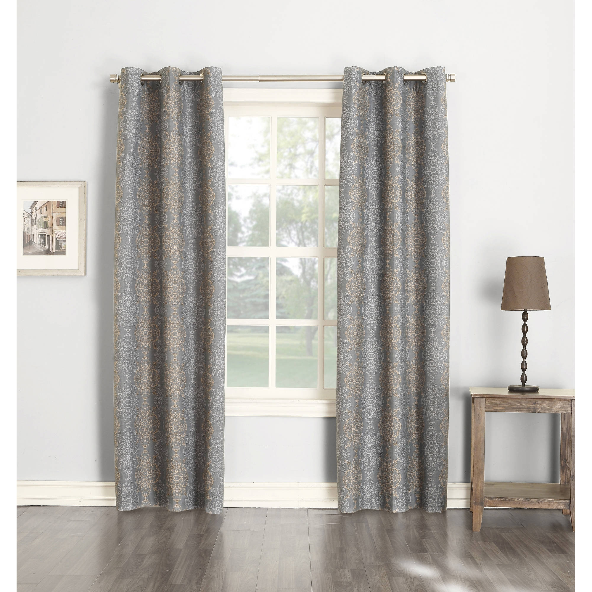 Sun Zero Nikita Thermal Single Curtain Panel Walmart Within Lined Thermal Curtains (Image 14 of 15)