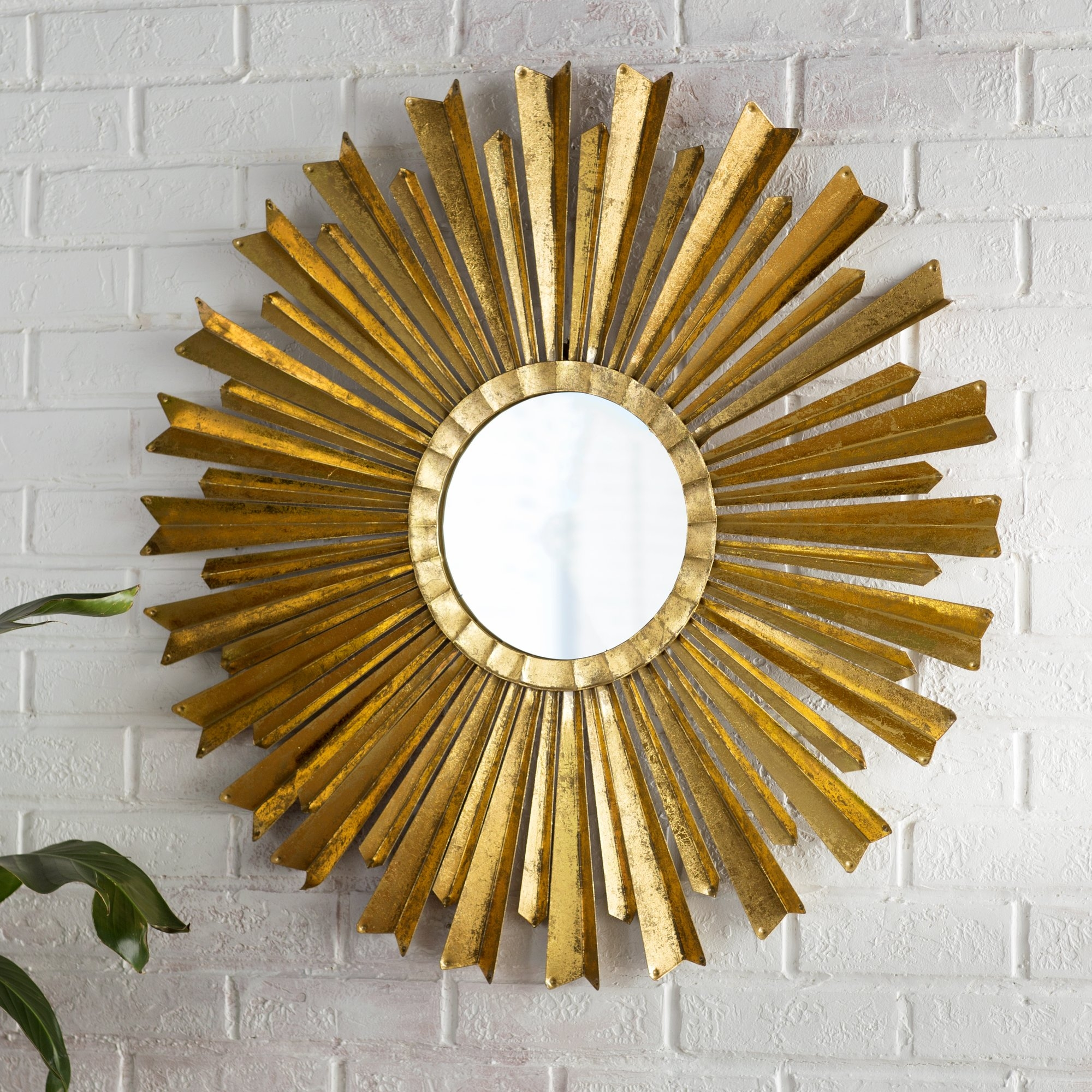 Sunburst Mirrors Youll Love Wayfair Intended For Large Sun Shaped Mirror (Image 13 of 15)