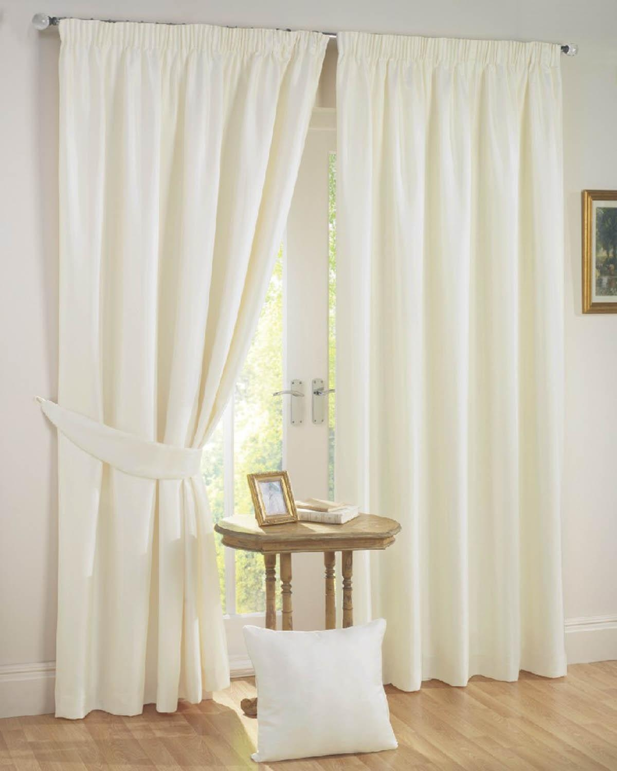 Sunset Ready Made Curtains Cream Free Uk Delivery Terrys Fabrics With Plain White Blackout Curtains (View 9 of 15)