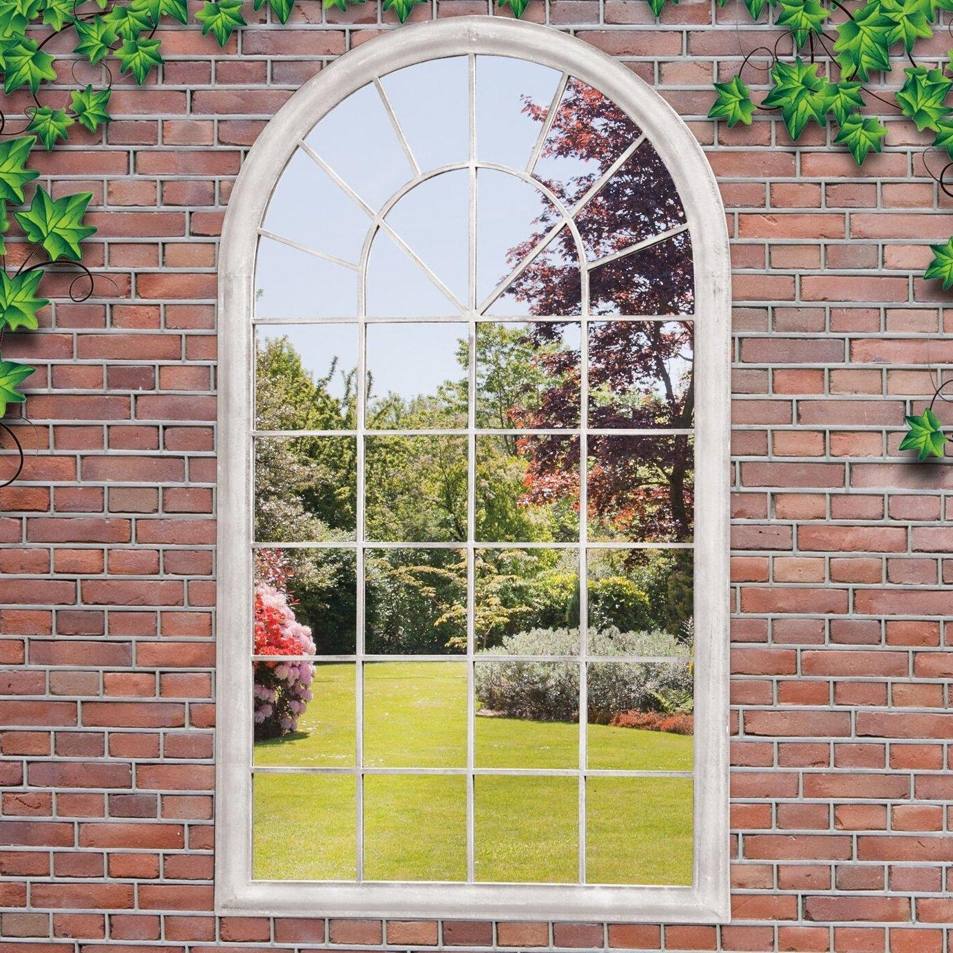 Suntime Outdoor Living Garden Window Mirror Wall Decor Reviews Regarding Garden Wall Mirrors (Image 14 of 15)