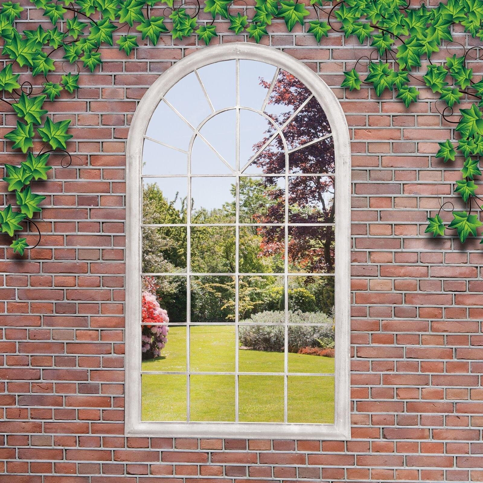 Suntime Outdoor Living Garden Window Mirror Wall Decor Reviews Within Garden Window Mirror (Image 14 of 15)
