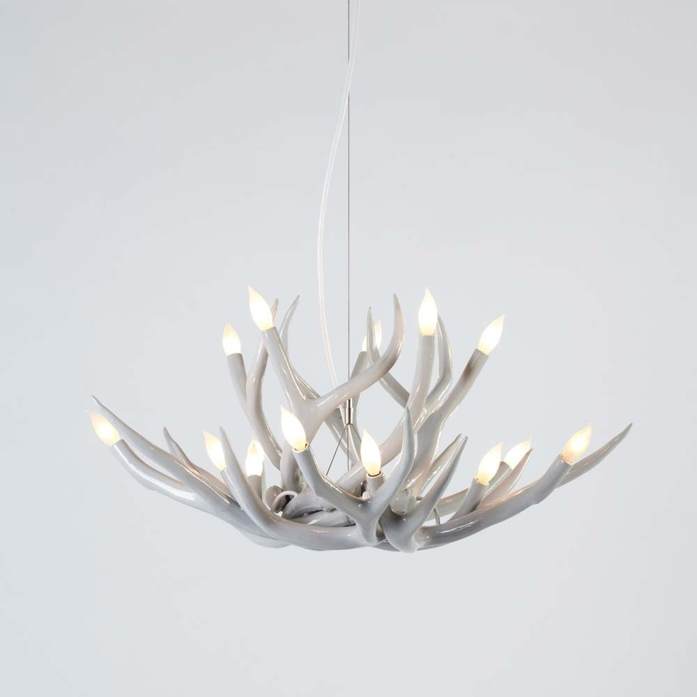Superordinate Antler Chandelier 10 Antlers Jason Miller Antler Within Modern Antler Chandelier (Image 13 of 15)