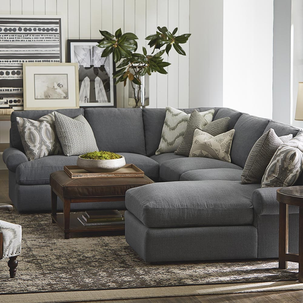 Sutton U Shaped Sectional Intended For Bassett Sectional Sofa (View 11 of 15)