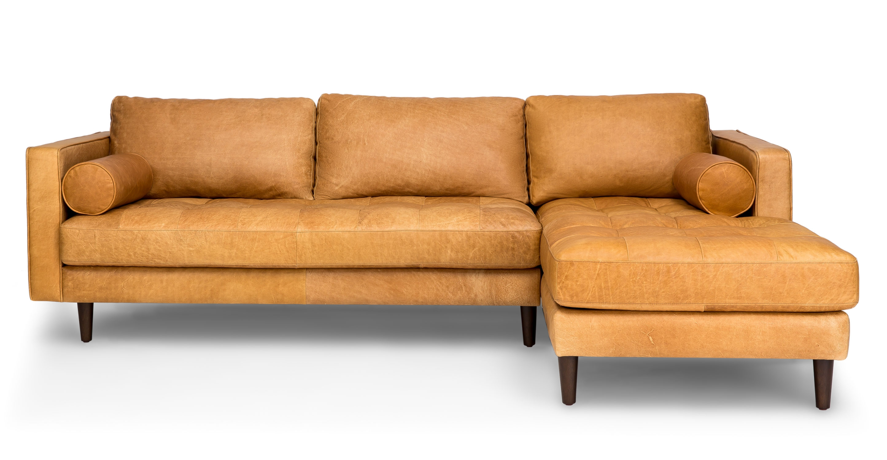 Sven Charme Tan Right Sectional Sofa Sectionals Article Regarding Camel Colored Sectional Sofa (Image 15 of 15)