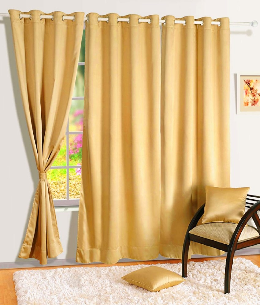 Swayam Single Long Door Blackout Eyelet Curtain Buy Swayam Throughout Long Eyelet Curtains (Image 15 of 15)