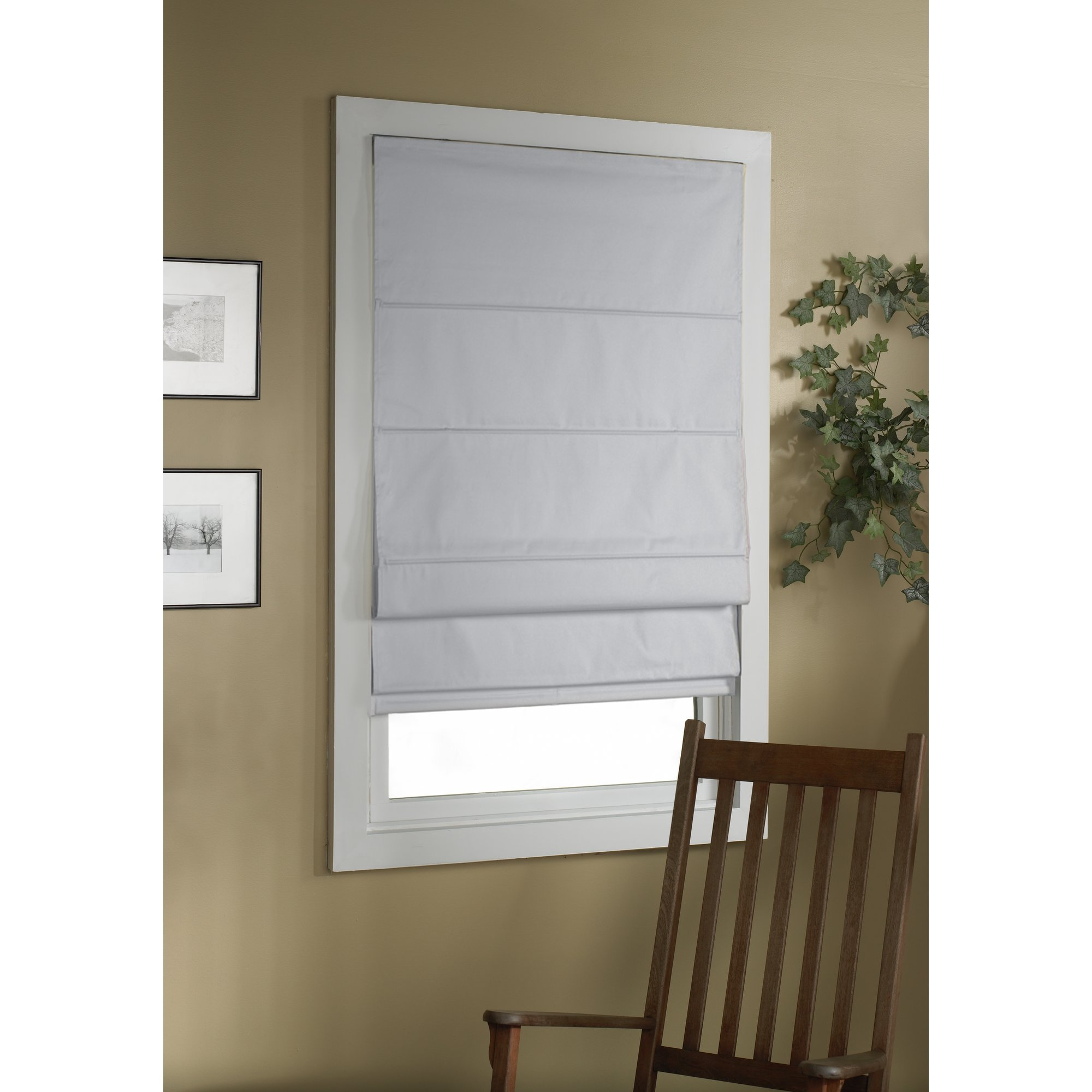 Symple Stuff Cordless Thermal Backed Roman Shade Reviews Wayfair In Thermal Lined Roman Shades (Image 14 of 15)