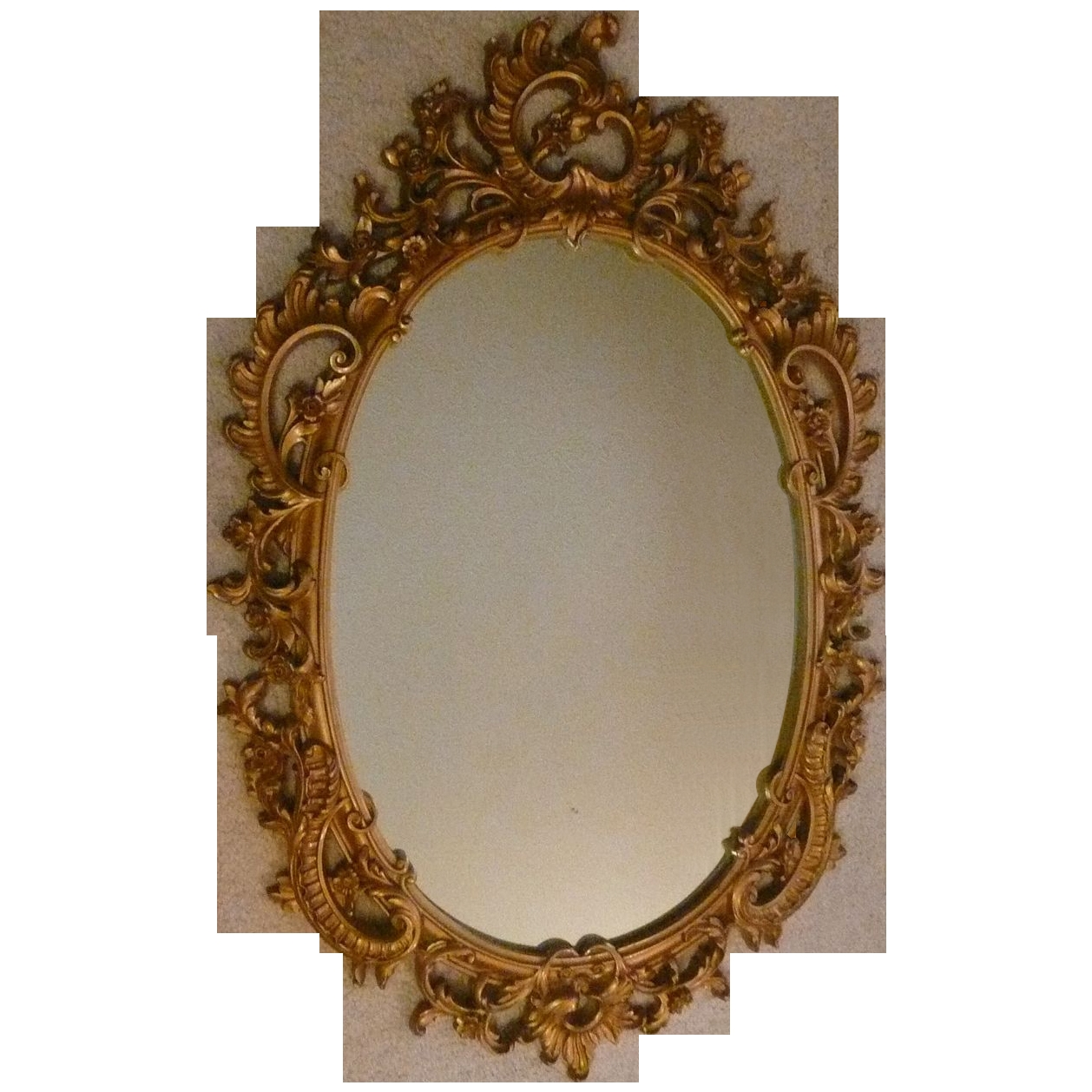 Syroco Wood Composite Mirror With Ornate Scroll From Artgate On With Ornamental Mirrors (Image 11 of 15)