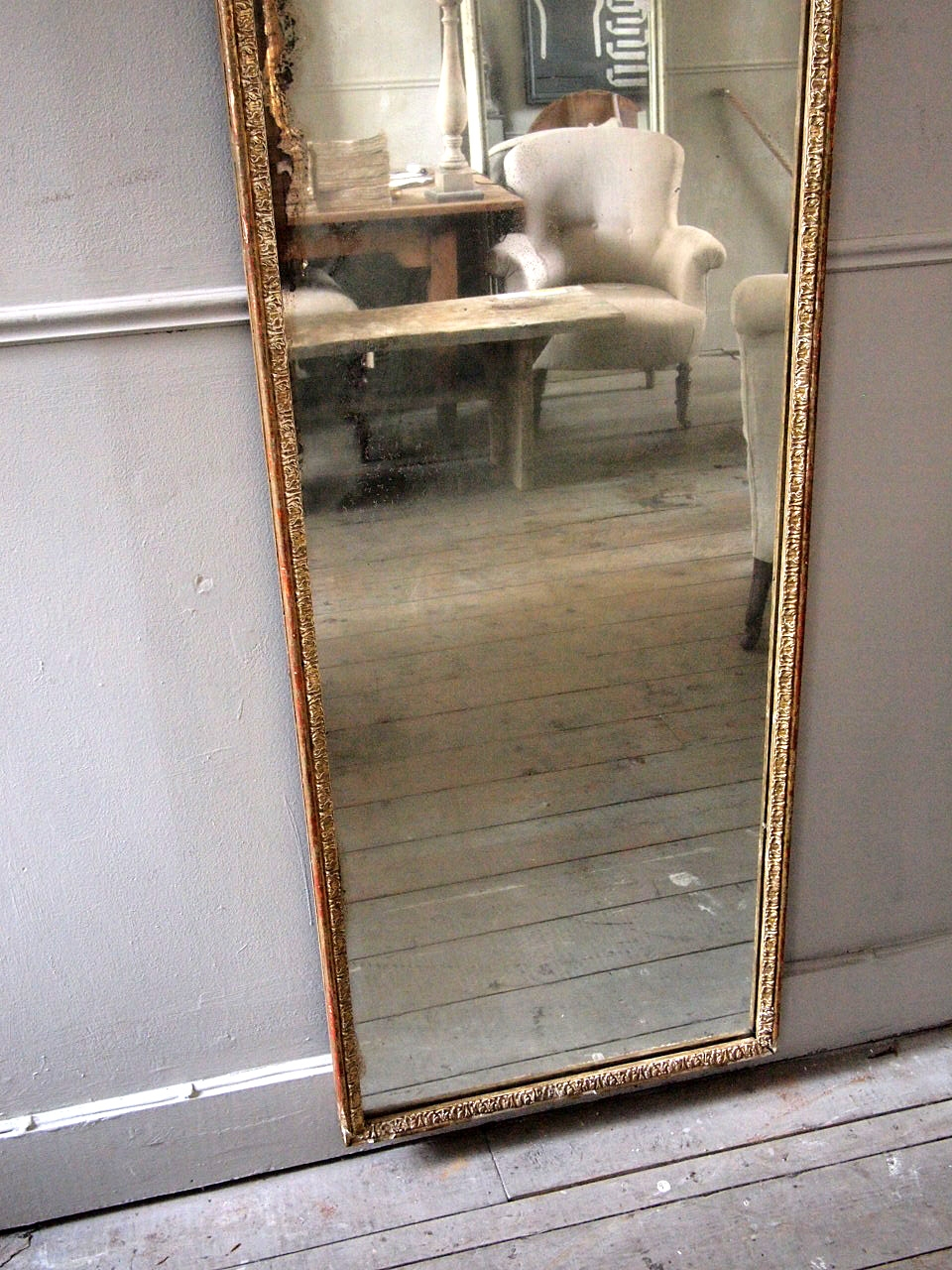 Tall French Dressing Mirror Puckhaber Decorative Antiques With Tall Narrow Mirror (Image 7 of 15)