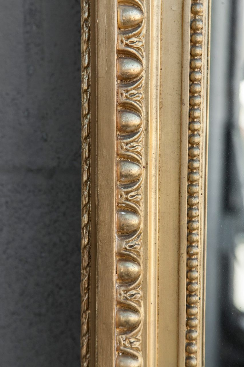 Tall Gold Louis Xvi Giltwood Full Length Mirror With Crown Of Intended For Full Length Gold Mirror (Image 13 of 15)